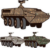 Personnel carrier Camo vector Royalty Free Stock Images