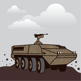 Personnel carrier grey sky Royalty Free Stock Images