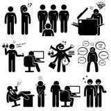 Personnel Clipart des employés de stage d'interne nouveau illustration stock