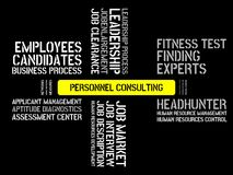 PERSONNEL CONSULTING - image with words associated with the topic RECRUITING, word, image, illustration Stock Images