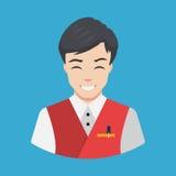 Personnel d'hôtel - illustration de vecteur de conception d'Icon Flat de serveur Photographie stock libre de droits