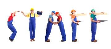 Personnel de construction Images libres de droits