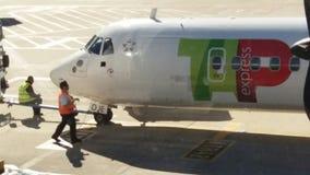 Personnel de piste d'aéroport Image stock