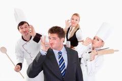 Personnel de restaurant Photographie stock libre de droits