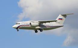 Personnel de vol d'AN-148-100E (RA-61720) un peloton spécial Images libres de droits