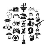 Personnel department icons set, simple style. Personnel department icons set. Simple set of 25 personnel department vector icons for web isolated on white Stock Images