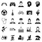 Personnel department icons set, simple style Royalty Free Stock Photography