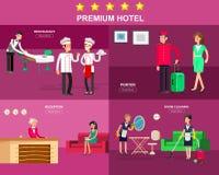 Personnel et service d'hôtel Image libre de droits