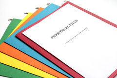 Personnel Files. Folder for archive work royalty free stock photo