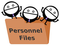 Personnel files Royalty Free Stock Photography