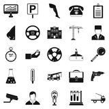 Personnel icons set, simple style Stock Photo
