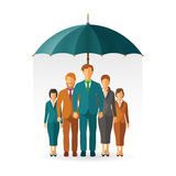 Personnel insurance vector concept in flat style Stock Photo