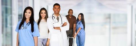 Personnel médical dans l'hôpital images libres de droits