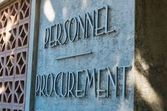Personnel Procurement Stock Photo