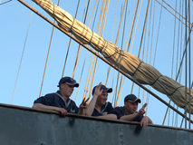 Personnel of sailing ship Siedow Royalty Free Stock Photo