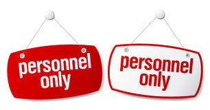 Personnel only signs. Royalty Free Stock Images