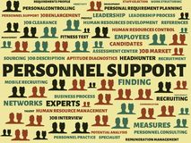 PERSONNEL SUPPORT - image with words associated with the topic RECRUITING, word, image, illustration Stock Photography