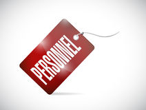 Personnel tag illustration design Stock Photography