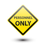 Personnel on yellow sign Royalty Free Stock Images