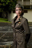 Personnels de l'armée féminins photographie stock libre de droits
