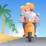 Personnes âgées à l'illustration de vecteur de palmiers Illustration Stock