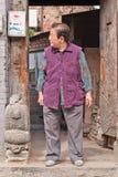 Personnes âgées féminines chinoises dans la vieille ville de Pékin, Chine Photographie stock libre de droits
