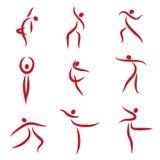 Personnes abstraites de danse, symboles Image libre de droits