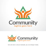 Personnes abstraites Logo Template Design Vector, emblème, concept de construction, symbole créatif, icône de triangle Photos stock