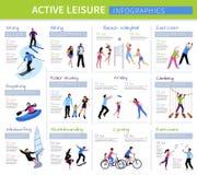 Personnes actives Infographics de loisirs illustration de vecteur