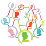 Personnes actives sur la mise en réseau sociale Image libre de droits