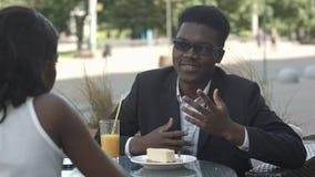 Personnes afro-américaines de jeunes affaires sur la coupure Image libre de droits