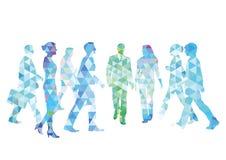Personnes colorées pour une promenade Photos libres de droits
