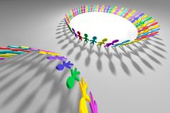Personnes 3D colorées photo stock