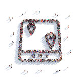 Personnes 3d d'indicateur de carte illustration stock