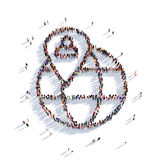 Personnes 3d d'indicateur de carte de globe illustration de vecteur