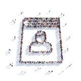 Personnes 3d de bloc-notes de livre Images stock