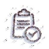 Personnes 3d de questionnaires Images libres de droits