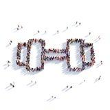 Personnes 3d de sport d'haltère Image stock