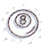 Personnes 3d de sport de billards Photos libres de droits