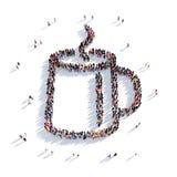 Personnes 3d de tasse de thé Images stock