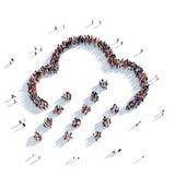 Personnes 3d de temps de nuage Photos libres de droits