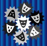 Personnes d'expressions dans le théâtre Photographie stock