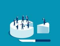 Personnes d'homme d'affaires se tenant sur le gâteau Photos stock