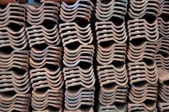 Personnes d'Indonésien de toits de piles Photo stock