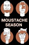 Personnes de bande dessinée de raseur-coiffeur de hippie avec des moustaches de barbes et de diverses coupes de cheveux élégantes illustration stock