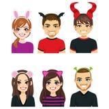 Personnes de bandeaux de Halloween illustration stock