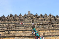 Personnes de Borobudur Photo stock
