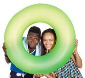 Personnes de couleur de couples d'amour. Photo stock