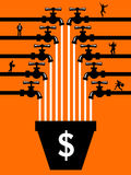 Personnes de Crowdfunding Image libre de droits