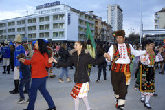 Personnes de danse de fête de rue Photos libres de droits